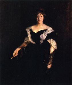 William Merritt Chase - Portrait of Mrs. H. (also known as Mrs. H, Lady in Black)