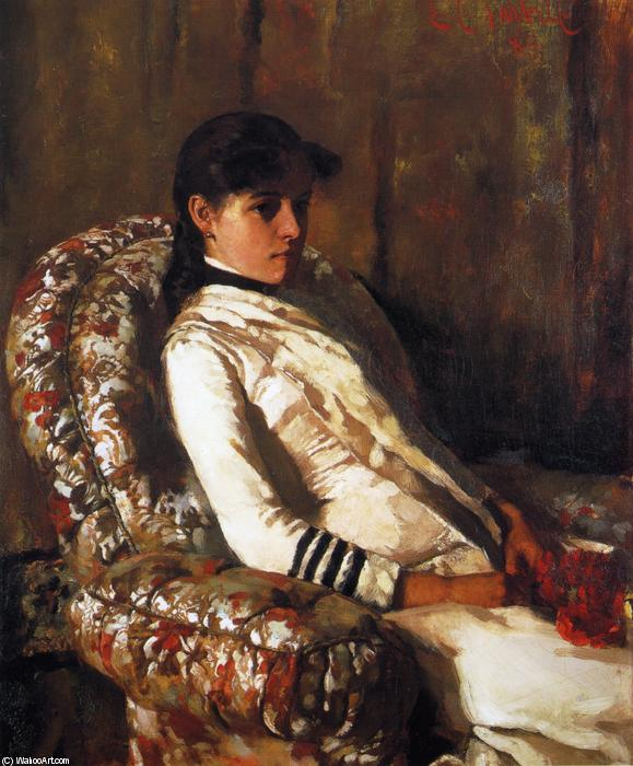 famous painting Portrait of Mrs. Tarbell (as a Girl) of Edmund Charles Tarbell