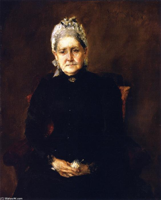 famous painting Portrait of My Mother (also known as Portrait of the Artist's Mother) of William Merritt Chase