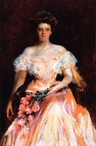 William Merritt Chase - Portrait of a Woman (also known as Miss Dickerman)