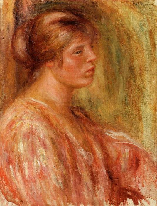 famous painting Portrait of a Woman of Pierre-Auguste Renoir