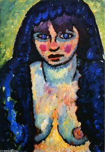 Alexej Georgewitsch Von Jawlensky - Portrait of a Woman, Katia
