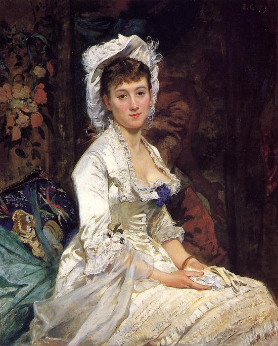 famous painting Portrait of a Woman in White of Eva Gonzales
