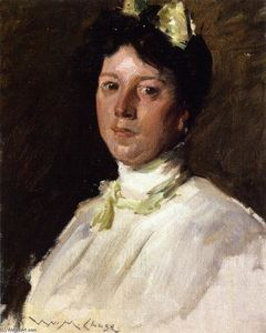 William Merritt Chase - Portrait of a Young Girl