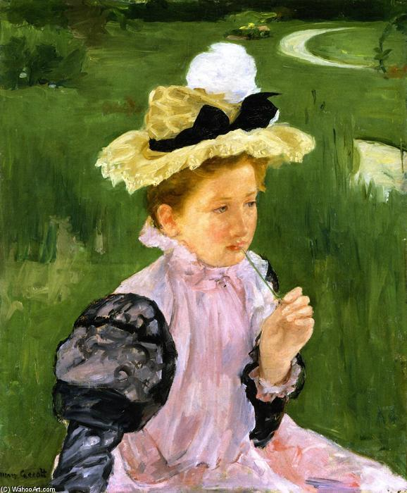 famous painting Portrait Of A Young Girl of Mary Stevenson Cassatt