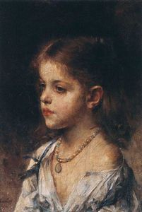 Alexei Alexeievich Harlamoff - Portrait of a young girl (17)