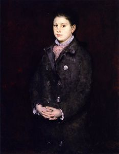 William Merritt Chase - Portrait of a Young Lady