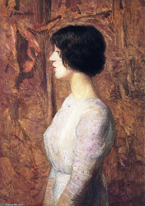 famous painting Portrait of a Young Woman of Julian Alden Weir