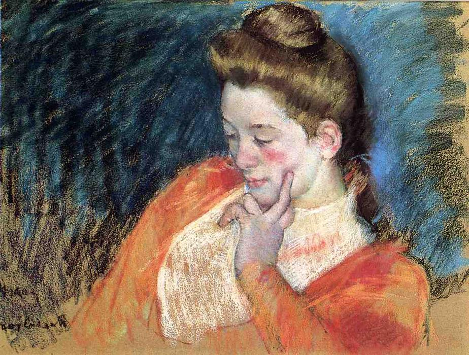 famous painting Portrait of a Young Woman of Mary Stevenson Cassatt