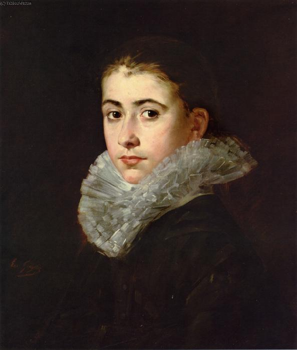 famous painting Portrait of a Young Woman of Eva Gonzales
