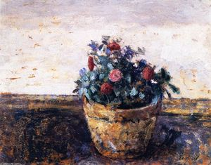 Jean Edouard Vuillard - Pot of Flowers