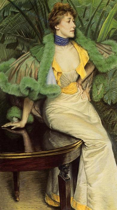 famous painting The Princess of Broglie of James Jacques Joseph Tissot
