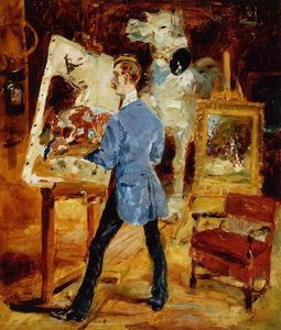 Henri De Toulouse Lautrec - Princeteau in His Studio