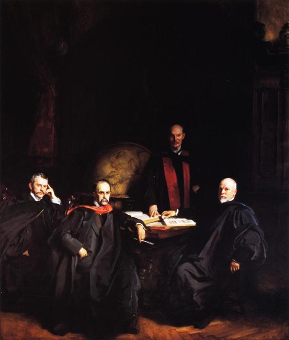famous painting Professors Welch, Halsted, Osler and Kelly (also known as The Four Doctors) of John Singer Sargent