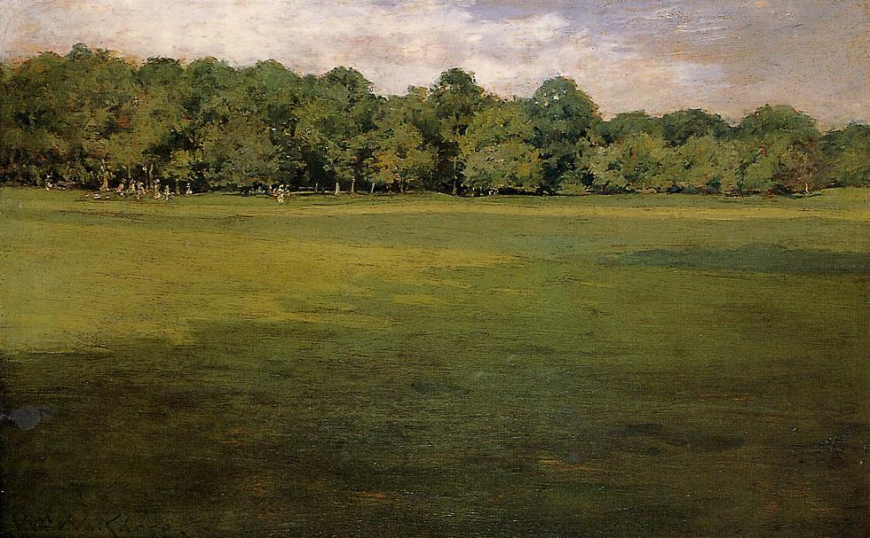 famous painting Prospect Park (also known as Croquet Lawn, Prospect Park (?)) of William Merritt Chase