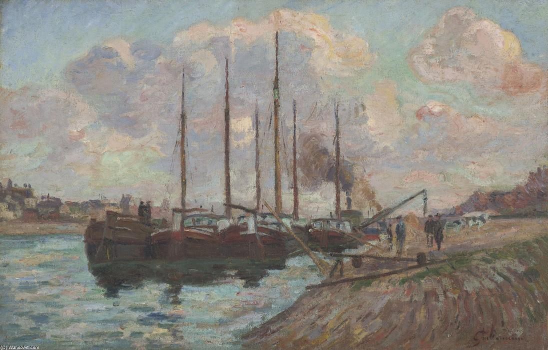 famous painting The Quai d'Austerlitz of Jean Baptiste Armand Guillaumin