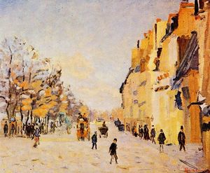 Jean Baptiste Armand Guillaumin - Quai de Bercy - Snow Effect (also known as Paris, quai de Bercy, effet de neige)