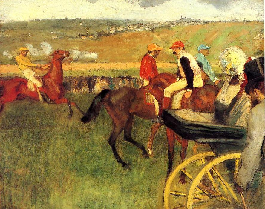 famous painting The Racecourse, Amateur Jockeys of Edgar Degas