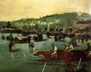 Edouard Manet - The Races in the Bois de Boulogne