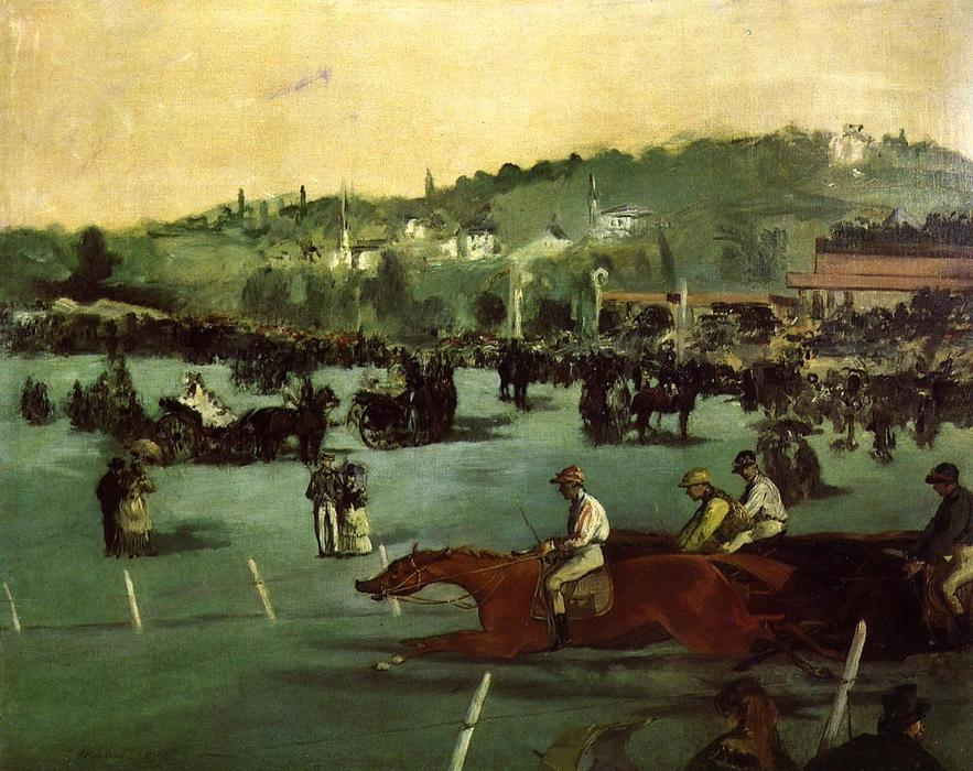 famous painting The Races in the Bois de Boulogne of Edouard Manet