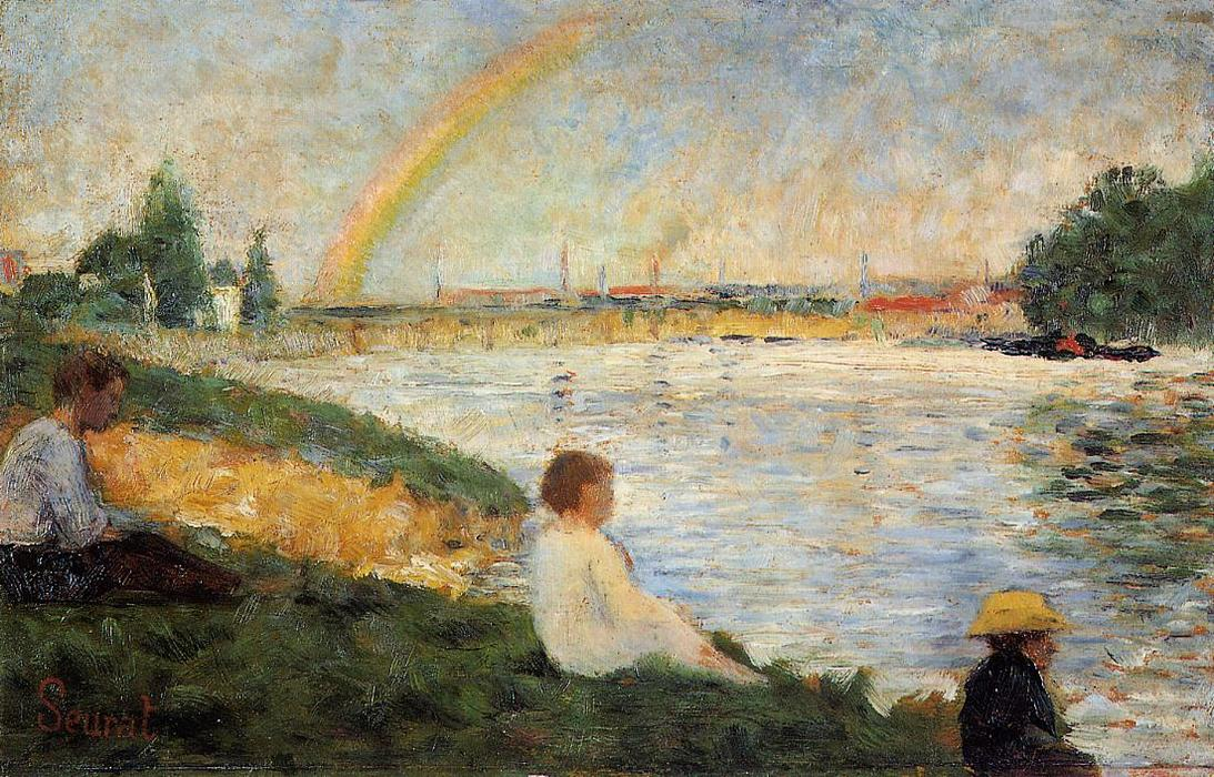 famous painting Rainbow of Georges Pierre Seurat