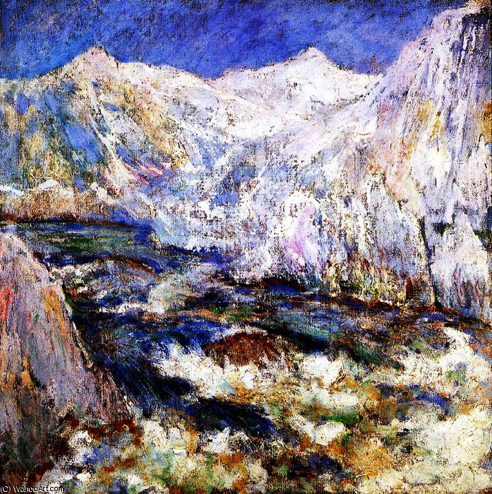 famous painting The Rapids, Yellowstone of John Henry Twachtman