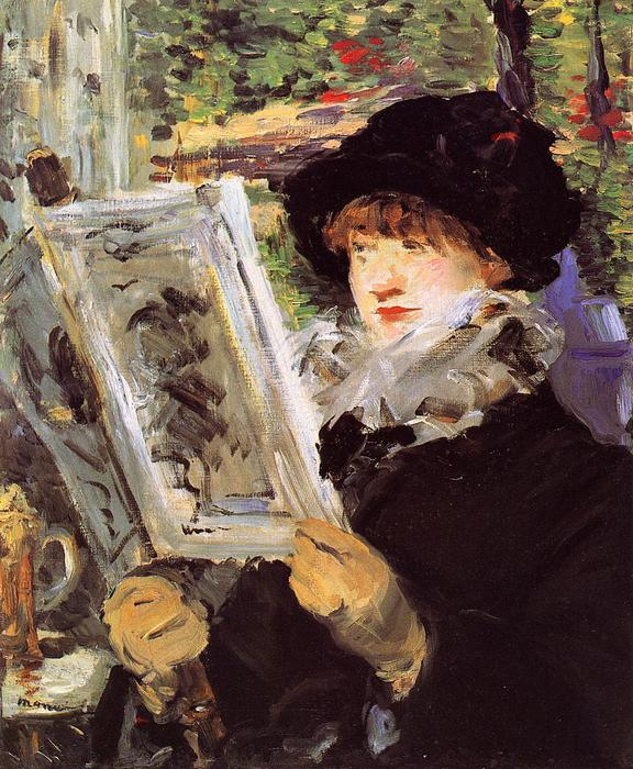 famous painting Reading (also known as Reading L'Illustre) of Edouard Manet