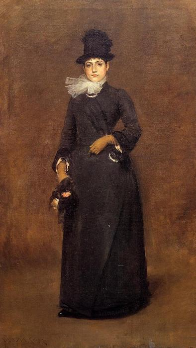 famous painting Ready for a Walk: Beatrice Clough Bachmann of William Merritt Chase