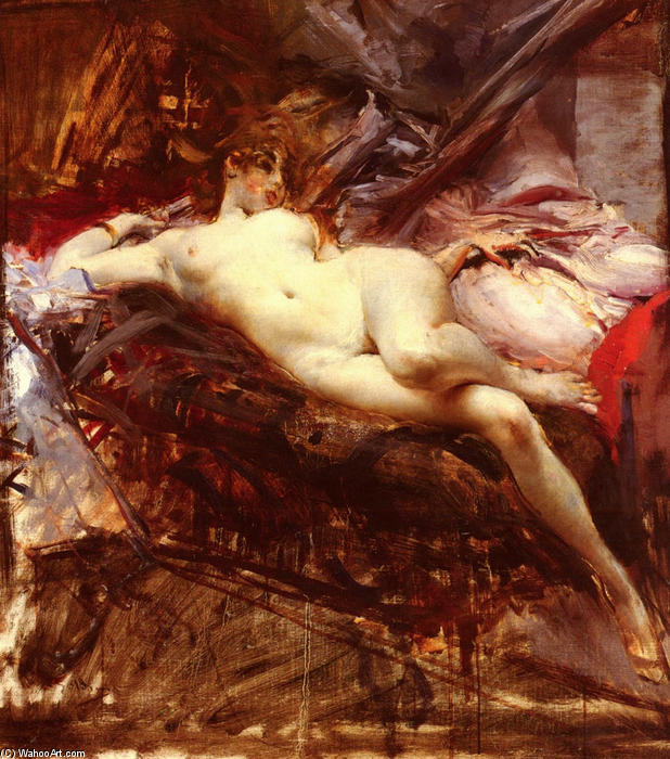 famous painting Reclining Nude of Giovanni Boldini