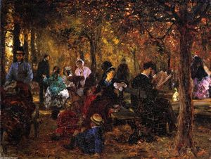 Adolph Menzel - Recollection of the Luxembourg Gardens