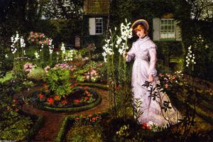 John Atkinson Grimshaw - The Rector's Garden: Queen of the Lilies
