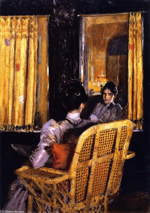 famous painting Reflections (also known as Reflection) of William Merritt Chase