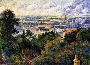 Maximilien Luce - Region of Paris, View of Montmartre