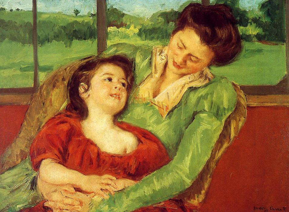 famous painting Reine Lefebre and Margot before a Window of Mary Stevenson Cassatt