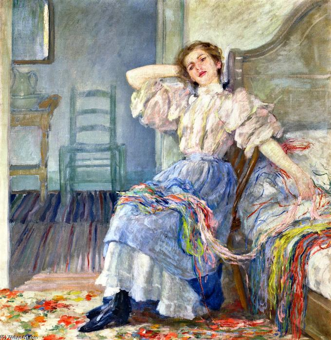 famous painting Reminiscing of Robert Lewis Reid