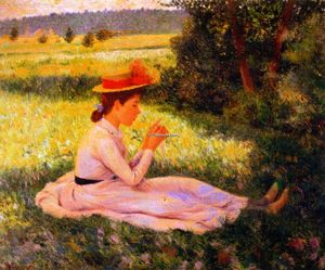 Federico Zandomeneghi - Repose in the Meadow (also known as Girl in a Field)