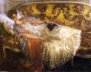 Frederick Carl Frieseke - Rest (also known as Femme au sofa)