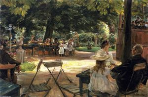 Max Liebermann - Restaurant Garden (also known as Beer Garden in Leiden (Zelten?))