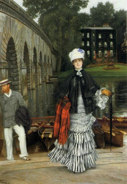 famous painting The Return from the Boating Trip of James Jacques Joseph Tissot