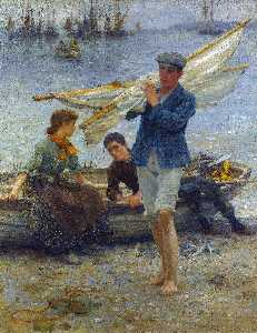 Henry Scott Tuke - Return from fishing