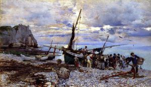 Giovanni Boldini - The Return of the Fishing Boats