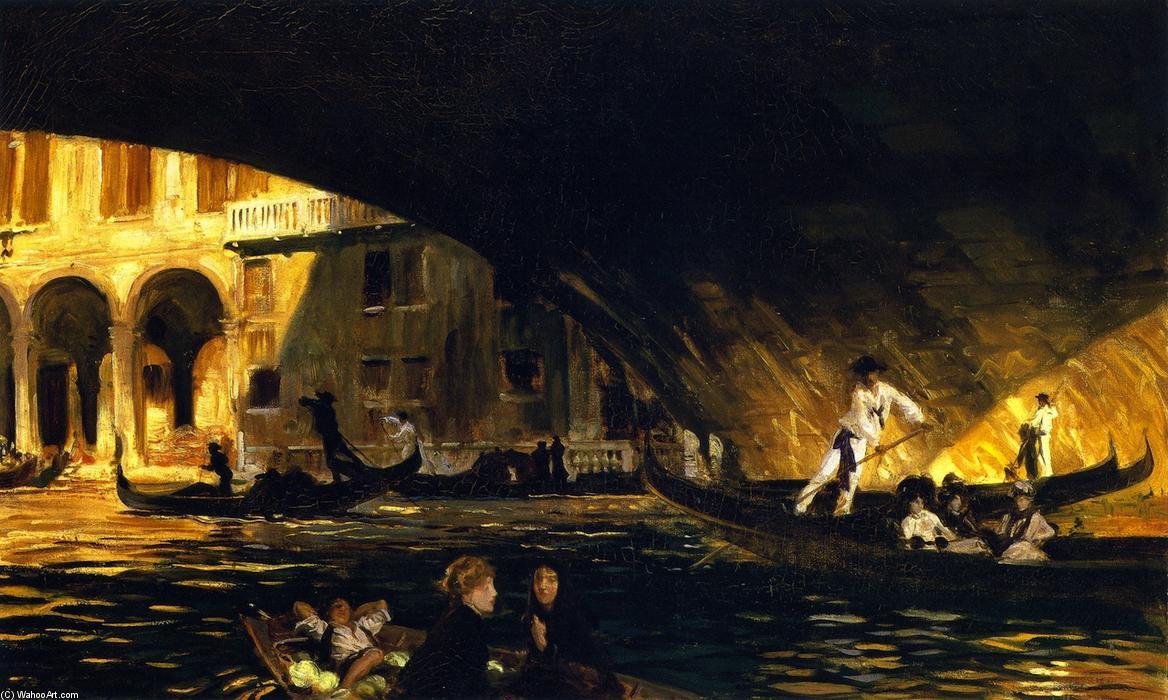 famous painting The Rialto, Venice of John Singer Sargent