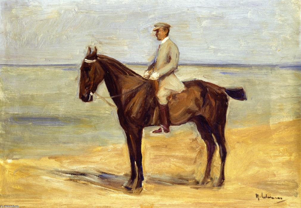 famous painting Rider on the Beach Facing Left of Max Liebermann