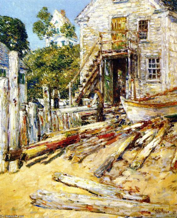 famous painting Rigger's Shop, Provincetown of Frederick Childe Hassam