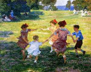 Edward Henry Potthast - Ring Around the Rosie