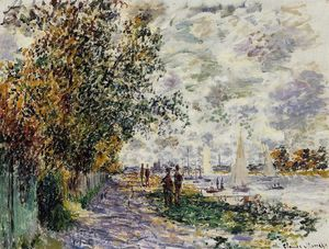 Claude Monet - The Riverbank at Petit-Gennevilliers