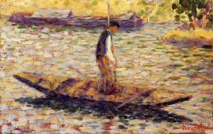 Georges Pierre Seurat - Riverman (also known as Fisherman)