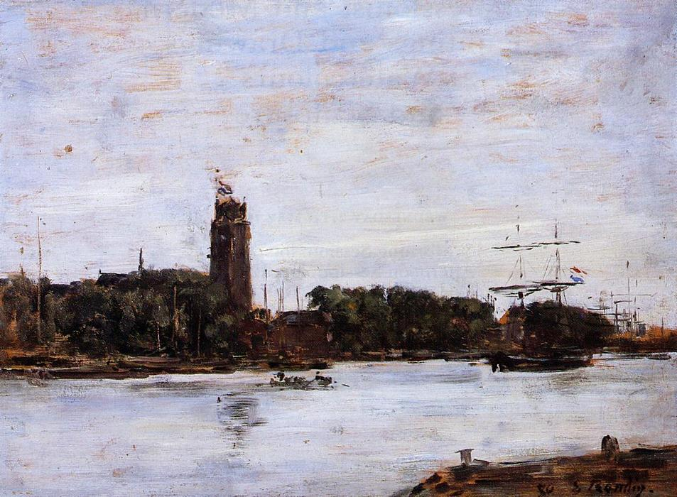 famous painting The River Scheldt of Eugène Louis Boudin
