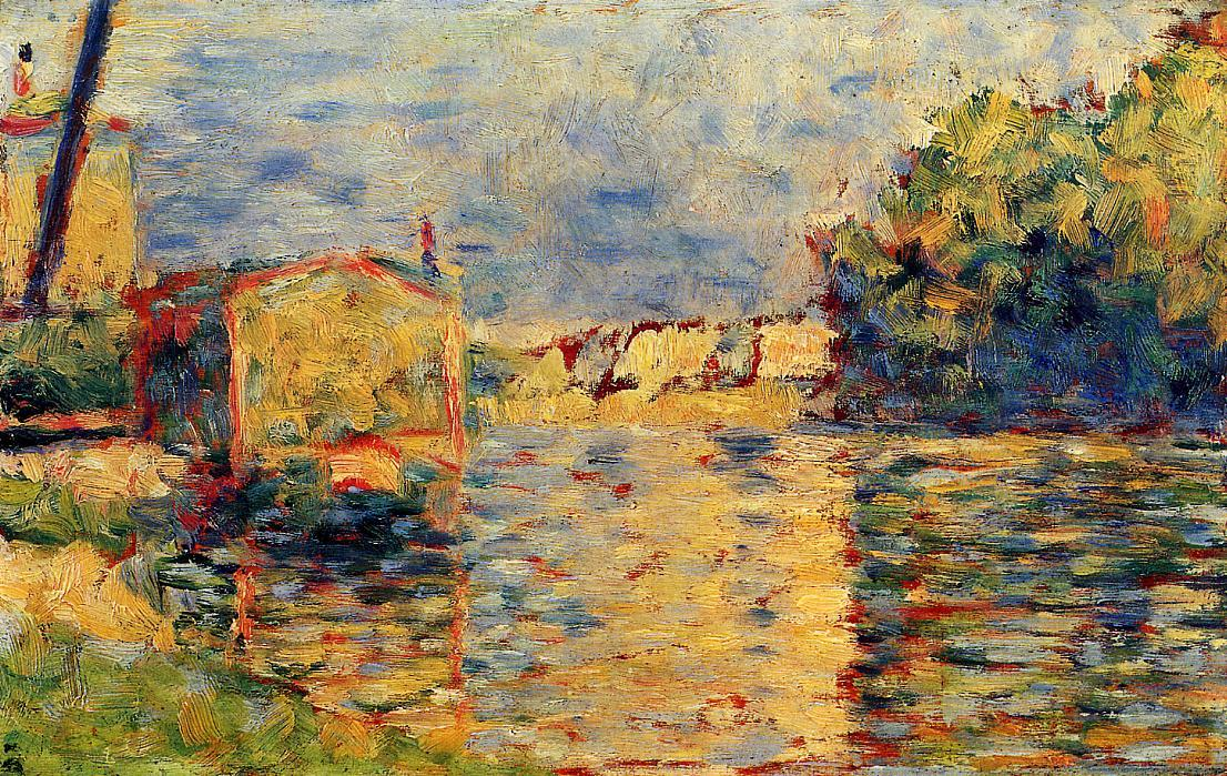 famous painting River's Edge of Georges Pierre Seurat