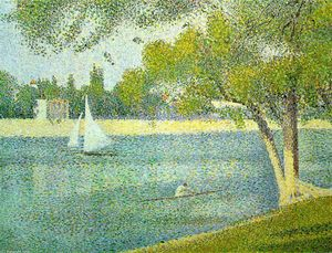 Georges Pierre Seurat - The river Seine at La Grande-Jatte